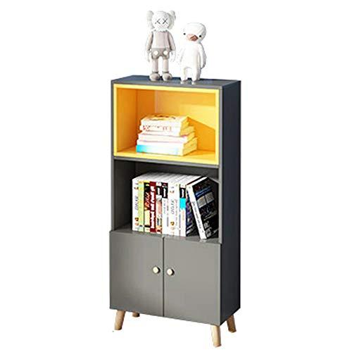 Einfache Kinder Bücherregal, Mehrzweckregal, Anzeigebücher Und Spielzeug, Lagerregalregal Für Jungen Und Mädchen,Gray s