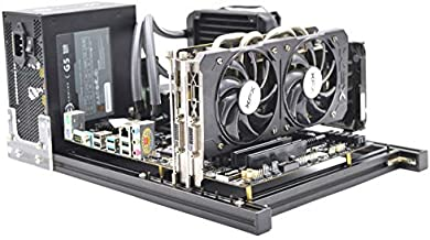 ITX Computer Open Air Case Bracket Aluminum DIY Bare Frame Support Graphics Card Test Bench