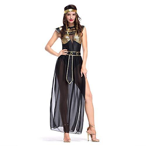 DUORUI disfraz de diosa de la mitología egipcia cosplay para mujer, disfraz para Halloween, circo, carnaval, carnaval, con diadema