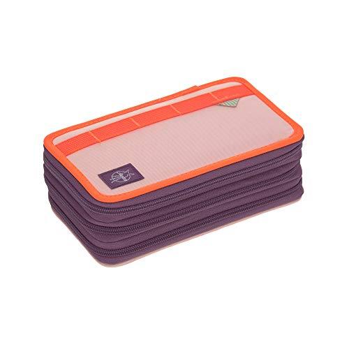 Lässig School Triple Pencil Case, Kids' Luggage Unisex-Child, Rosa/Neon-Arancione, Taglia Unica