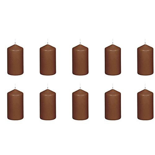 Eika Stumpenkerzen 130/70 mm (10 Stück) - Cappuccino