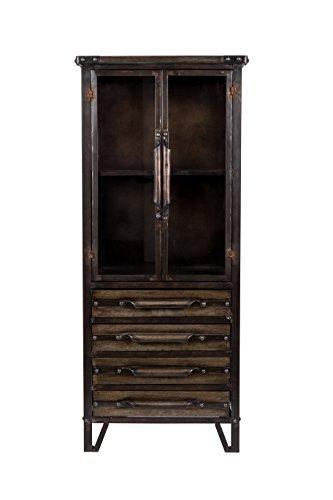 Felis Lifestyle Otis kast, metaal, zwart, 54 x 40 x 126,5 cm
