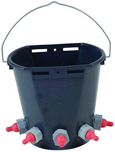 Tränkeeimer für Lämmer aus Kunststoff (inkl. Ventilen und Saugern) 10 Liter