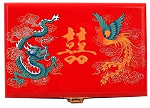 Cajas de joyería caja de joyería caja de joyería de madera caja de joyería hecha a mano caja de joyería exquisita talla caja de joyería estilo retro p...
