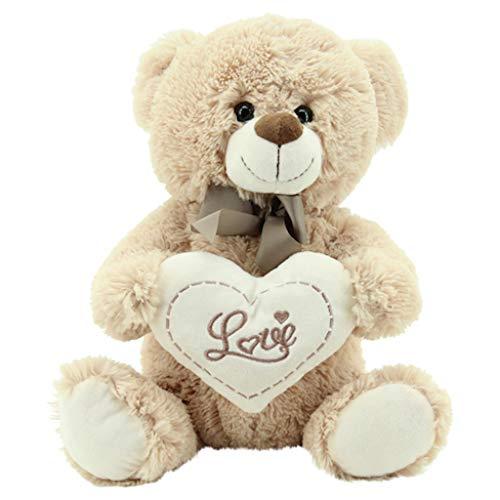 Sweety Toys 3877 Teddy Kuschelbär Plüschbär Herzbär LOVE, supersüss mit Herz hochwertige Stickerei