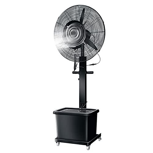 qwert Ventilador Rociador De Pedestal Oscilante, 32 Pulgadas Ventilador De Piso Soporte Nebulización, 350W Alta Potenciatanque Agua Grande De 43 L, Ajuste Enfriamiento Rápido