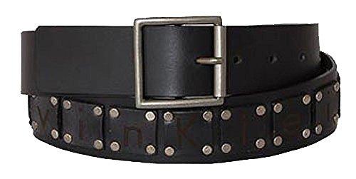 Calvin Klein Ceinture unisex logo belt w rivets black 80cm
