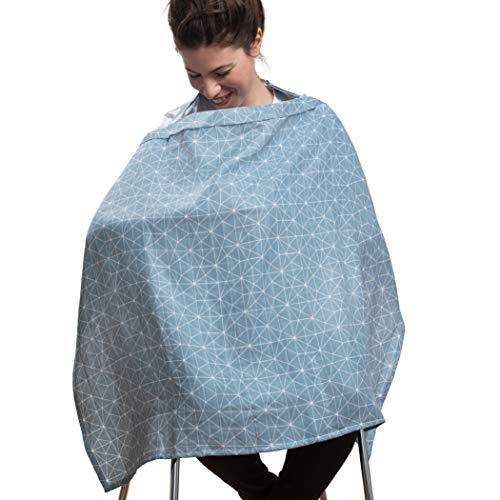 Urban Kanga Cubierta para Lactancia de Muselina Cubre Lactancia Pañuelo Bufanda de Lactancia (Azul)