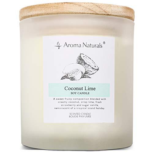 Aroma Naturals - Vela perfumada de Cera de Soja con Tapa de...
