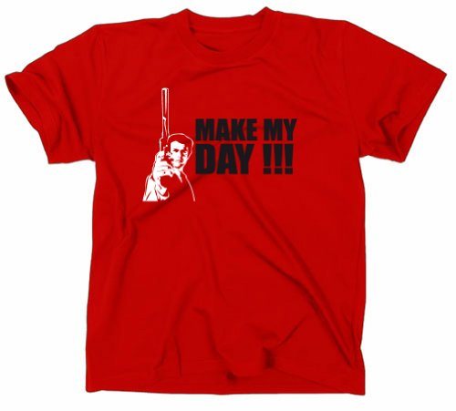 #2 Dirty Harry Make My Day Kult T-Shirt, rot, L