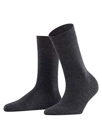 FALKE Damen Socken Sensitive Berlin - Merinowollmischung, 1 Paar, Grau (Anthracite Melange 3089), Größe: 35-38