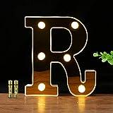 HONPHIER® Letras luces alfabeto lámpara LED carta iluminación letras iluminadas Nachtlichter decoración para cumpleaños Party bodas guarderías (R)