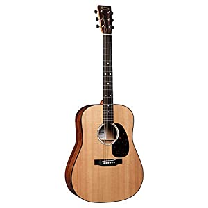 This is the Martin D-10e acoustic guitar in Natural finish