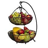DAMAI STORE Cesta De Frutas Ajustable De 2 Capas Cesta De Frutas Decoración for El Hogar/Decoración De Mesa