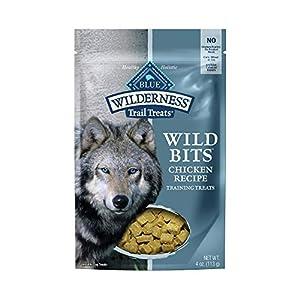 Blue Buffalo Wilderness Trail Treats Wild Bits High Protein Grain Free Soft-Moist Training Dog Treats, Chicken Recipe 4-oz Bag