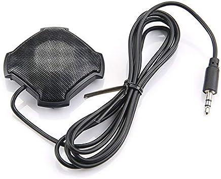 Microfono omnidirezionale Pickup con Microfono da 3,5 mm con Jack Audio a condensatore per Skype VOIP Call Voice Chat - Nero - Trova i prezzi più bassi