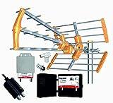 Kit Antena TECATEL 18DB + Amplificador 30dB + Fuente + Filtro 5G