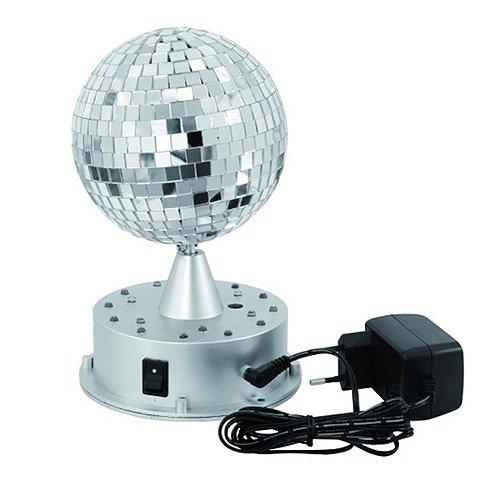 Eurolite 42109269 LED Spiegelkugel (13 cm) mit Leucht-Standfuß
