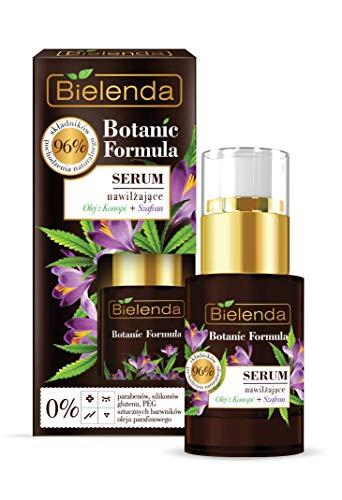 Bielenda Botanic Formula Antifalten Gesichtsöl- Serum mit Hanföl + Safran 15 ml 0% Parabene, 0% Silicone, 0% PEG, 0% Gluten, 0% künstliche Farbstoffe und 0% Paraffinöl