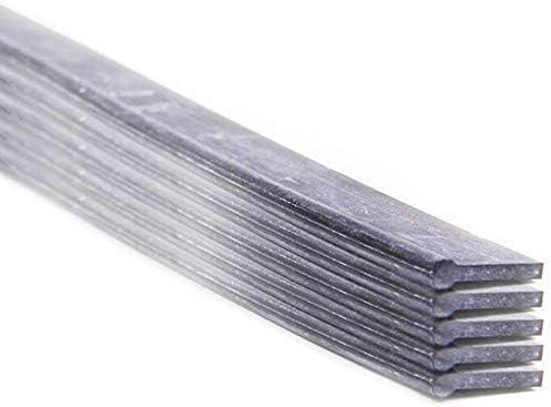 leichter Austausch 10er Set Ersatz-Wischergummis f/ür Profi-Fensterabzieher von LEWI streifenfreie Fensterreinigung robustes Hartgummi | Gummi-Lippe mit /Überstand 25 cm Gratis GlasRein inkl