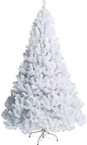 SDKFJ Alberi di Natale Albero di Natale Premium White Snow Floccato con Supporto in Metallo Montaggio Facile Albero di Natale Artificiale con Cerniera Albero di Natale Decorazioni Natalizie 0722