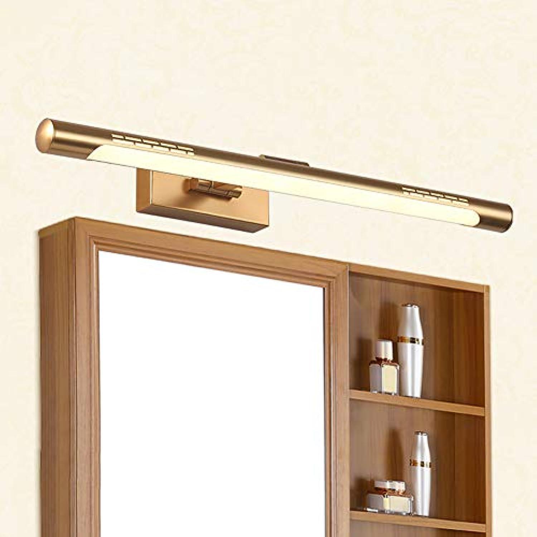 SXFYWYM LED Spiegellicht-Bathroom Licht-Winkel Adjustable Modern Mirror Cabinet Lampenlampe Beleuchtung,Gold,44cm
