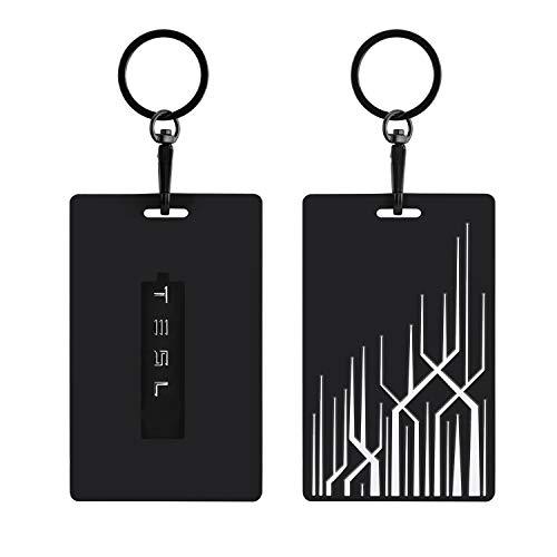Schlüssel Karten Halter für Tesla Model 3, Model Y Silikon Schlüsselanhänger