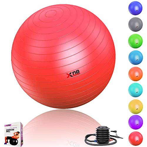 Xn8 Sports Gym Ball (75cm) Gimnasio-Pelota de Embarazo, Rojo, 75 cm
