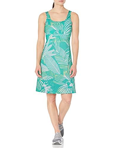 Columbia Damen Freezer III Kleid, UV-Sonnenschutz, Feuchtigkeitstransportierender Stoff, Delphin Schablone Hibiskus Print, Größe S