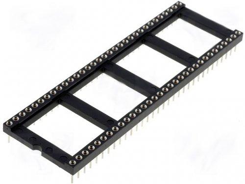 IC Sockel DIP Fassung mit Rundpins Rundbuchse 64 polig