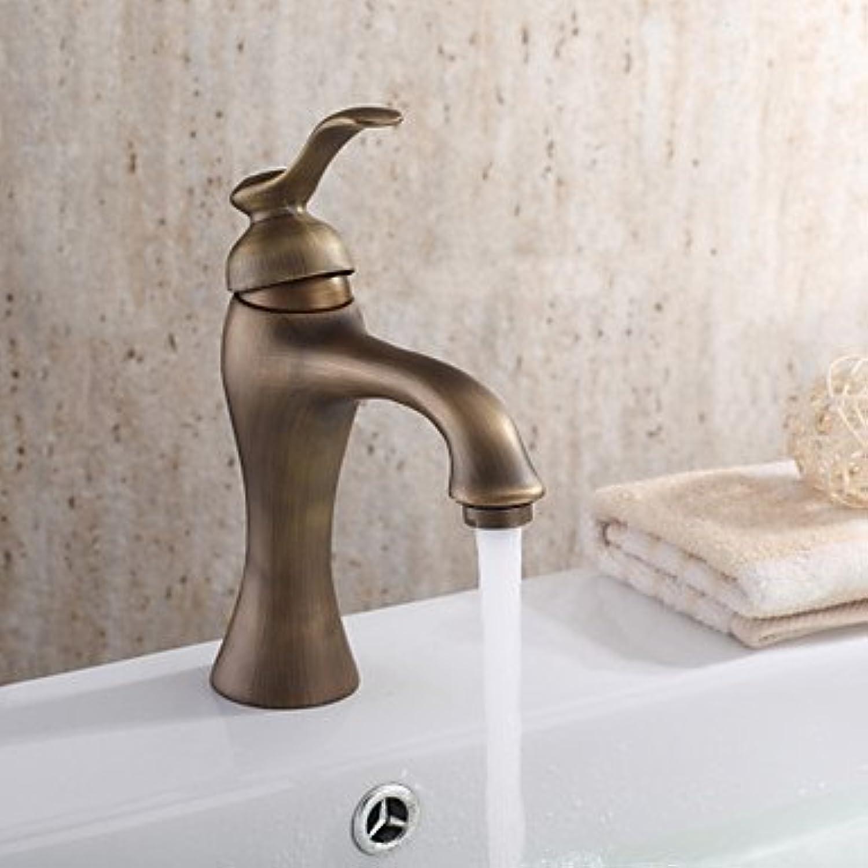 ZULUX Tmaker- personalisierte Waschbecken Wasserhahn im antiken Stil Waschbecken Wasserhahn mit centerset antique brass , Times New Roman