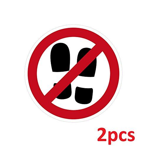 Aufkleber Sticker 4cm ORAFOL ORAJET Schuhverbot mit Schuhen Betreten Verboten Symbol Zeichen Warnhinweis (2)