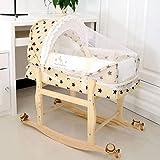 WXX Cesta for Dormir portátil for bebé recién Nacido con mosquitera (Naturaleza) (Color : Star)