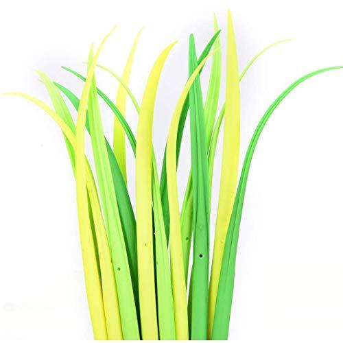 Zonster 12 Stücke/Piece kreative Nette Briefpapier kleine grüne Gras Gelstift Klinge Gras Topf Dekoration, Schwarze Mine