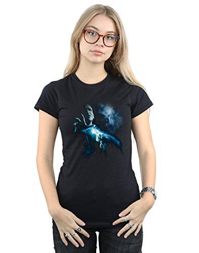 HARRY POTTER Mujer Voldemort Shadow Camiseta Large Negro