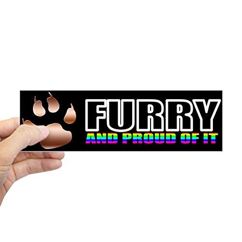 CafePress Furry Pride bumpersticker Aufkleber Bumper, weiß, Standard