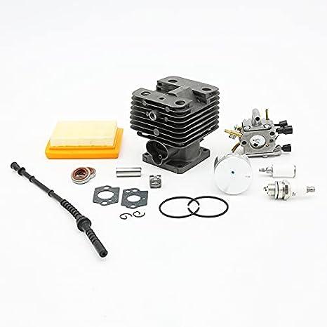 35mm 38mm 40mm Cilindro Pistón Carburador Filtro de Aire Kit de Manguera de Combustible para STIHL FS120 FS250 FS200 Jardín Trimmer Brushcutter Piezas