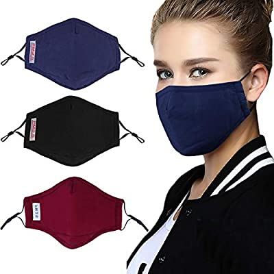 Fansport 3PCS Mouth Mask Anti-dust Mask Mouth Cover Mask with Filter Pad for Outdoor