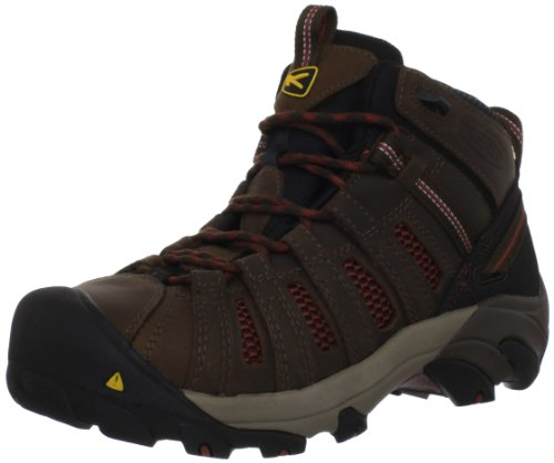KEEN Utility Men's Steel Toe Flint Mid Work Boot, Slate Black/Burnt Henna, 12 2E US