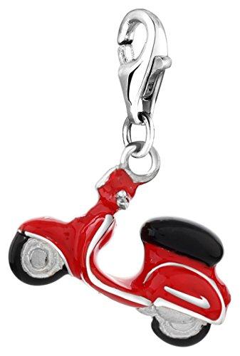 Nenalina Plata Charm Colgante Scooter para Collares y Pulseras para Mujer 714046-001