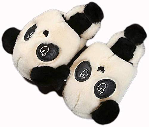 NIKAI luxe hechtstrips voor dames, winterkarikatuur-leuke panda-peel-warme antislip binnenvoering van katoen hechting, vionische slooptoeslagen vrouwen