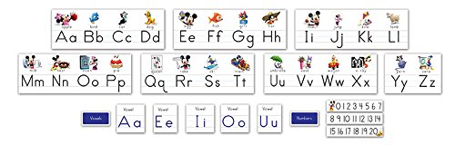 Eureka Disney Mickey Mouse Clubhouse Alphabet and Numbers Classroom Decorations, 14 ft