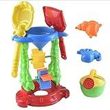 Toyvian Giocattoli da Spiaggia per Bambini Set Set Giochi per Sabbia Sandbox Toys Kit per Attrezzi da Sabbia creativi Stampi per Sabbia Benna per Pala per Ragazze e Ragazzi (Colore Casuale)