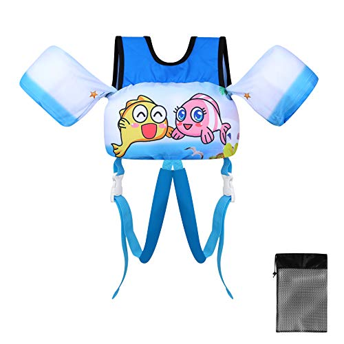 TOAUXUNG Gilet da Nuoto per Bambini con Cintura Regolabile, Gilet da Bagno per Bambini da 10 kg a 30...