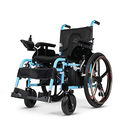 HUAHUA Silla de ruedas eléctrica La mejor venta de silla de ruedas eléctrica portátil de alta calidad con motor grande para discapacitados al aire libre (Color : Big wheels)
