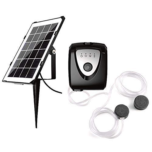 Domilay Solar-Sauerstoffgenerator, Sauerstoffpumpe, Solar-Aquarium-Luftpumpen-Kit Zur Erh?Hung des Sauerstoffgehalts im Aquarium-Teich-Pool-Garten im Freien