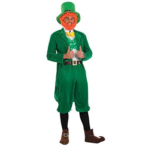 Fun Shack Grünes Irischer Kobold Kostüm für Herren, St. Patricks Day Kostüm, Faschingskostüm Erwachsene - M
