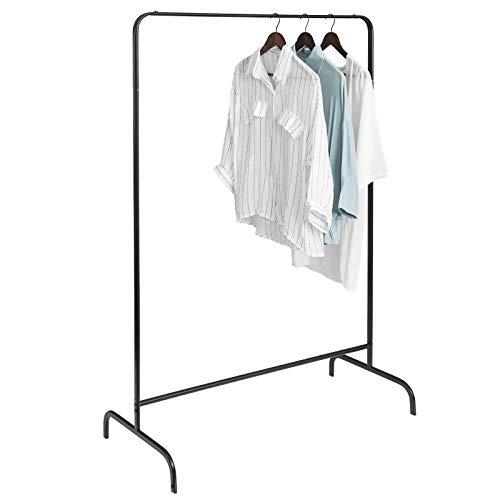 eSituro Kleiderständer Wäscheständer Garderobenständer Hängeregal Kleiderstange Garderobe Ständer aus Metall Schwarz ca.99x46x152 cm SGR0093