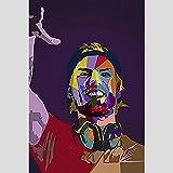 Impresiones sobre Lienzo Arte de Lienzo Moderno Avicii Legend DJ Cantante de música Estrella Pintura Cartel Abstracto e Impresiones decoración de Cuadros de Pared 60x90cm