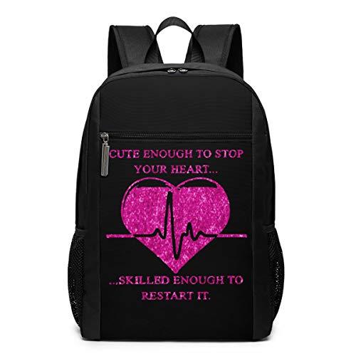 Louise Morrison Gifts For Nurses Nursing Women Men Laptop Travel Backpack College School Bookbag  Black  One Size